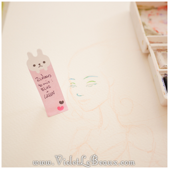 05 watercolor painting tutorial portrait Portrait   Lets Paint! Watercolour Walk Through