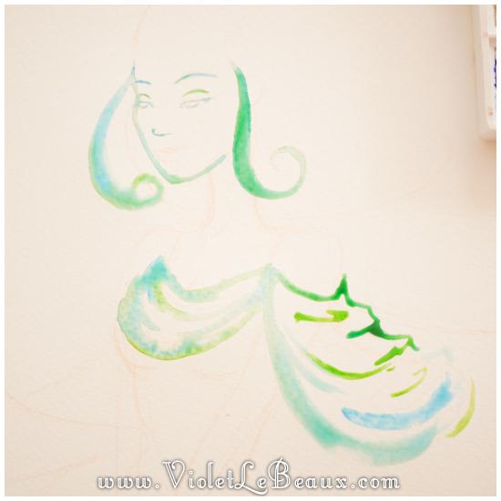 08 watercolor painting tutorial portrait Portrait   Lets Paint! Watercolour Walk Through