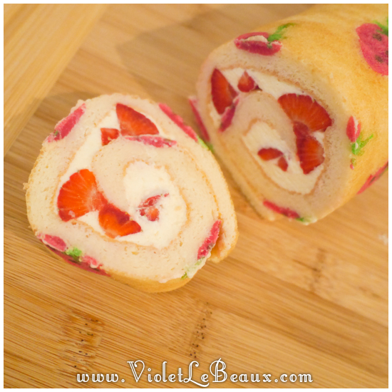 06 japanese deco roll cake strawberry recipe Strawberry Deco Roll Cake   Cute Food