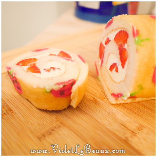 08 japanese deco roll cake strawberry recipe Strawberry Deco Roll Cake   Cute Food