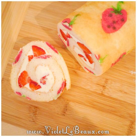 09 japanese deco roll cake strawberry recipe Strawberry Deco Roll Cake   Cute Food