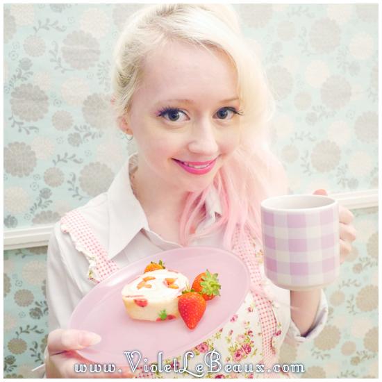 10 japanese deco roll cake strawberry recipe Strawberry Deco Roll Cake   Cute Food
