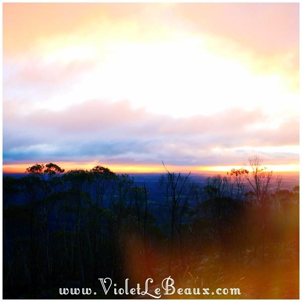 19 Bendigo Sunrise The No So Pink Cliffs and Mount Macedon   Snapshots