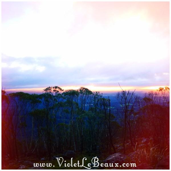 20 Bendigo Sunrise The No So Pink Cliffs and Mount Macedon   Snapshots
