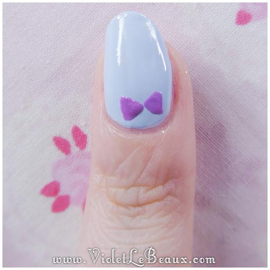 01how to do bow nail art Simple Nail Art  Bows!