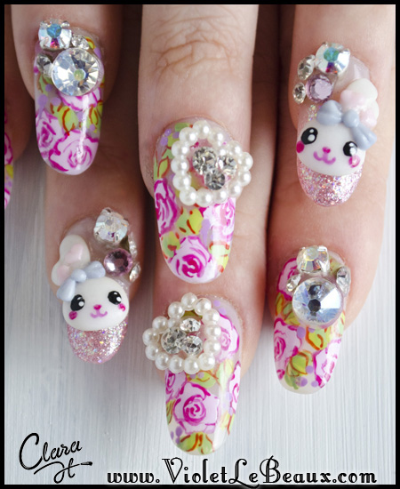 Awesome bergamot 3d japanese style nail art by clara h nails clara h5400 japanese nail art prinsesfo Image collections