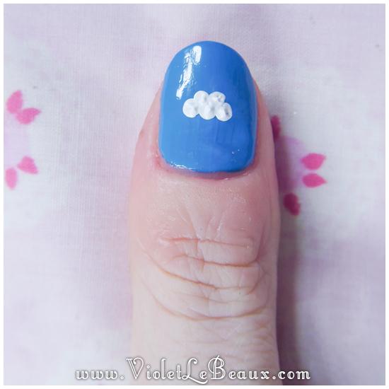 06 how to sky cloud nail art Easy Cloud Nail Art Photo Tutorial