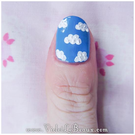 07 how to sky cloud nail art Easy Cloud Nail Art Photo Tutorial