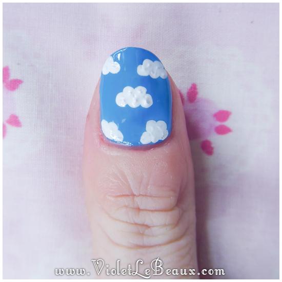 09 how to sky cloud nail art Easy Cloud Nail Art Photo Tutorial