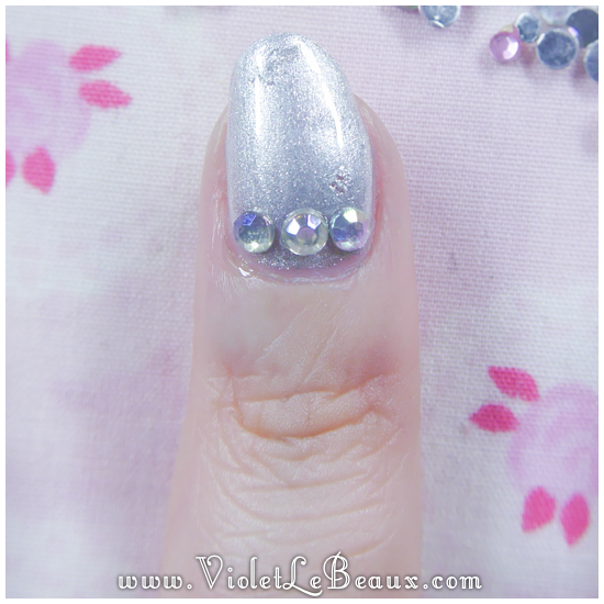 04 how to paved bling nail art How To Do Full Diamante Nail Art