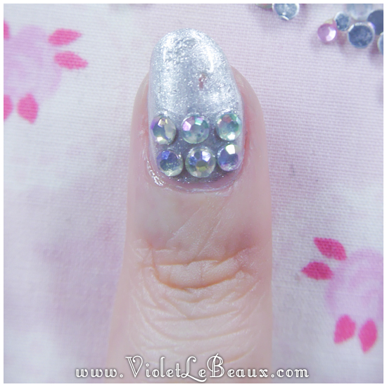 05 how to paved bling nail art How To Do Full Diamante Nail Art