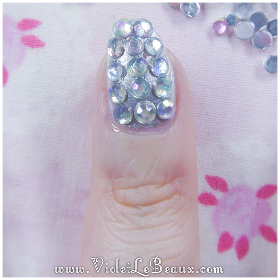 06 how to paved bling nail art How To Do Full Diamante Nail Art
