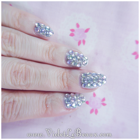 ... nail art design we ll be doing completely over the top paved diamante