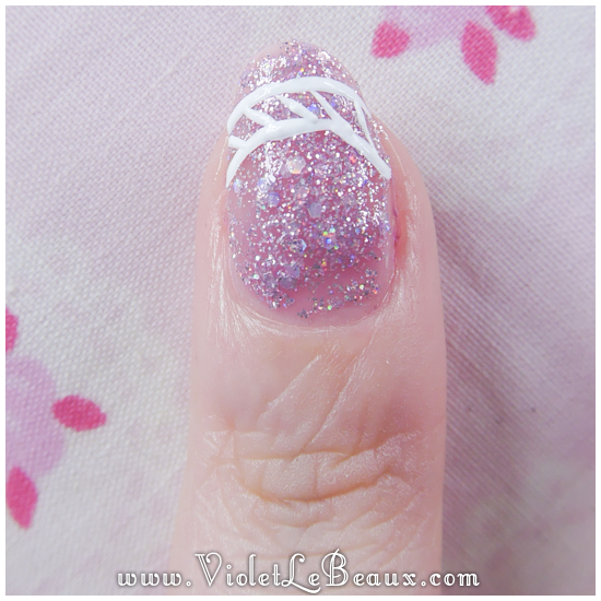 03 how to lace tip nail art Lace French Tips Nail Art Tutorial