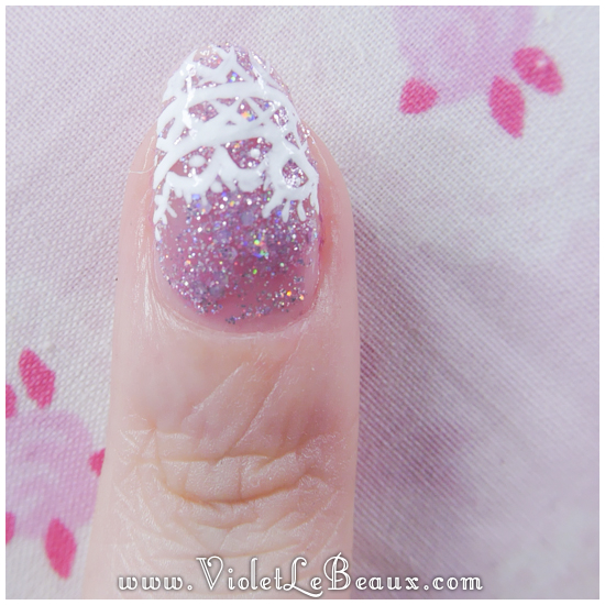 08 how to lace tip nail art Lace French Tips Nail Art Tutorial