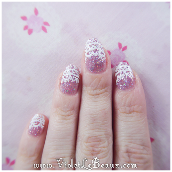 09 how to lace tip nail art Lace French Tips Nail Art Tutorial