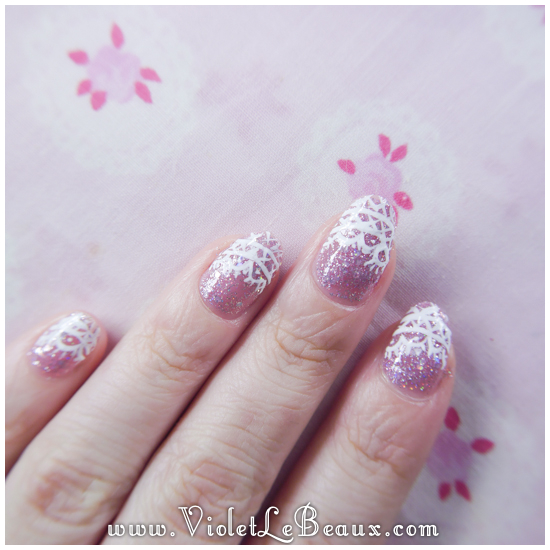 Lace French Tips Nail Art Tutorial