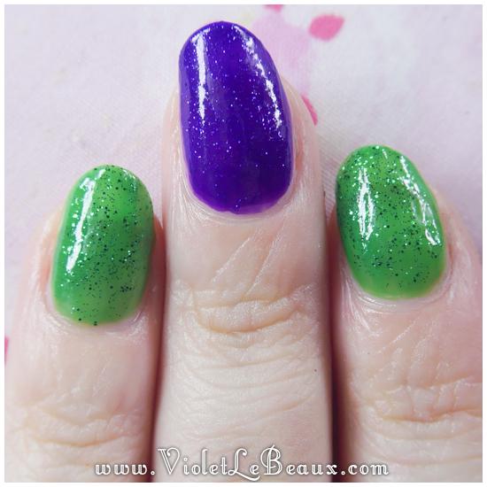 Simple Maleficent Nail Art Tutorial Violet Lebeaux Tales