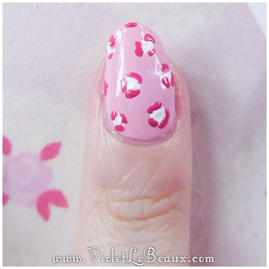 06 how to pastel pink leopard print nail art Pastel Leopard Print   Simple Nail Art Tutorial