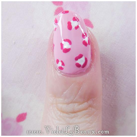 07 how to pastel pink leopard print nail art Pastel Leopard Print   Simple Nail Art Tutorial