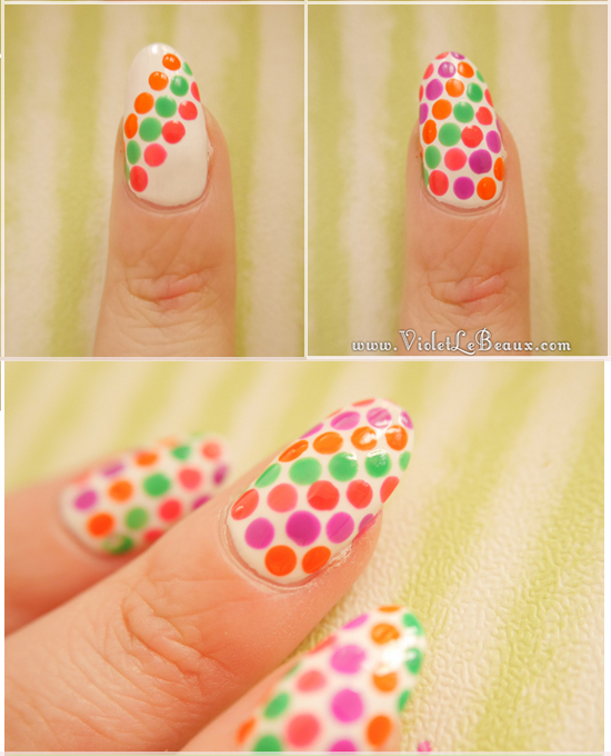 Simple Summer Spot Nail Art Tutorial Violet Lebeaux