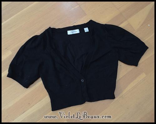 diy chanel style cardigan violetlebeaux 0843 Black Chanel Style Cardigan Make Over