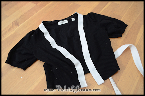 diy chanel style cardigan violetlebeaux 0847 Black Chanel Style Cardigan Make Over