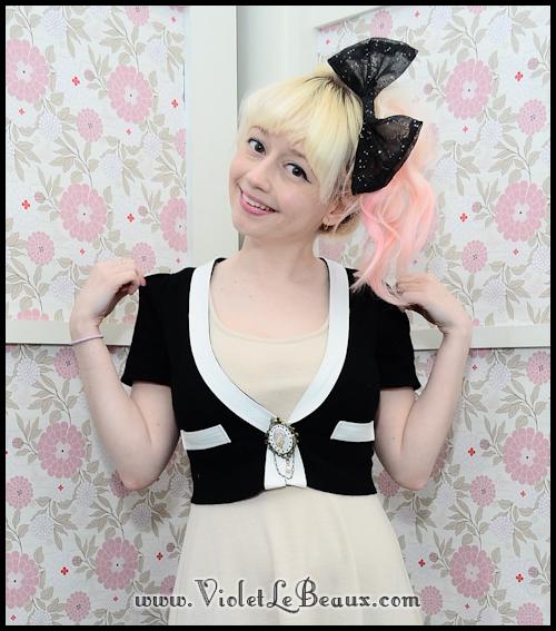 diy chanel style cardigan violetlebeaux 1214 Black Chanel Style Cardigan Make Over