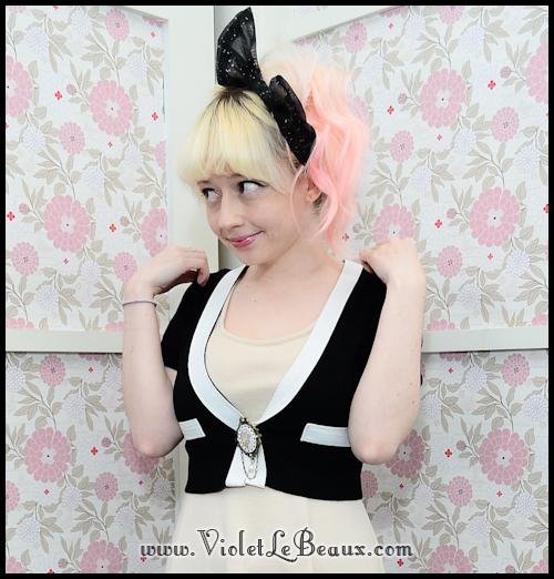 diy chanel style cardigan violetlebeaux 1218 Black Chanel Style Cardigan Make Over