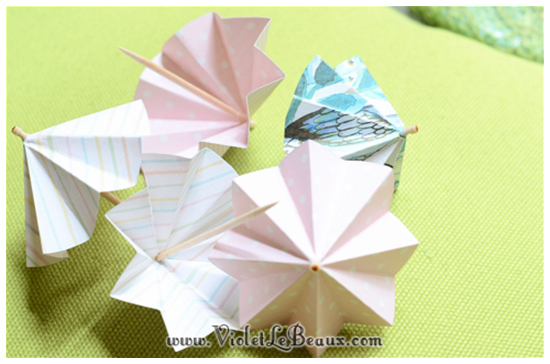 How To Make Cute Paper Drink Umbrellas