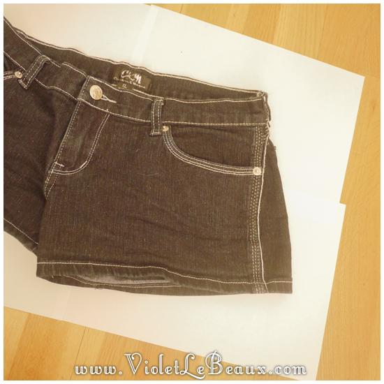 01 glitter jeans shorts DIY Glitter Jeans Shorts Tutorial