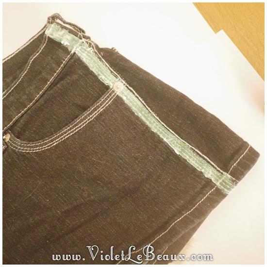 03 glitter jeans shorts DIY Glitter Jeans Shorts Tutorial