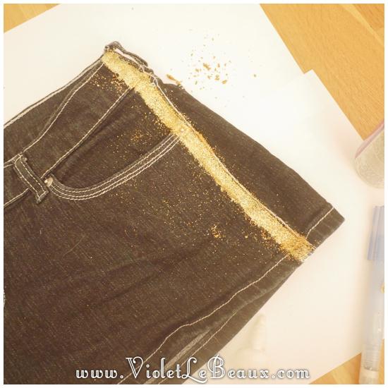 04 glitter jeans shorts DIY Glitter Jeans Shorts Tutorial