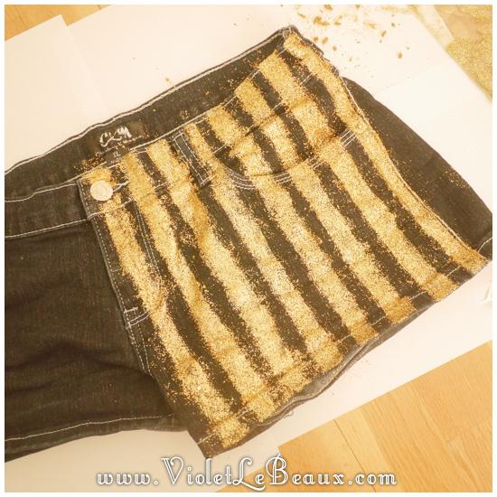 05 glitter jeans shorts DIY Glitter Jeans Shorts Tutorial