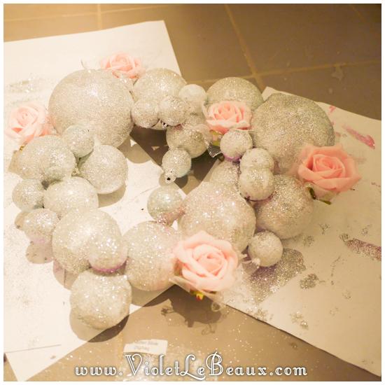 07 christmas heart garland Our Glitter Heart Wreath   Home Sweet Home