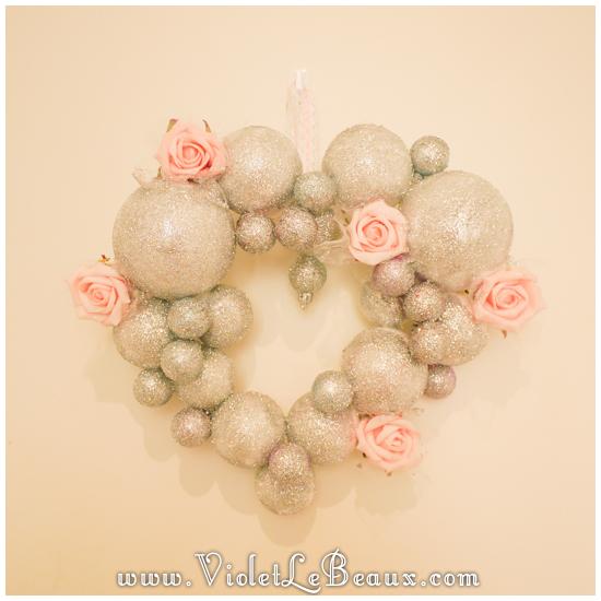 09 christmas heart garland Our Glitter Heart Wreath   Home Sweet Home