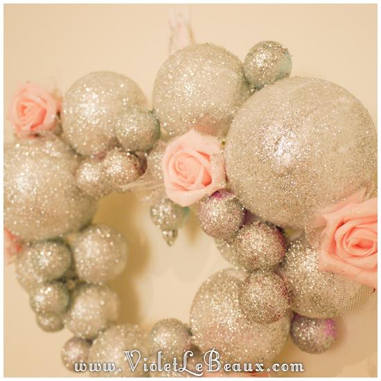 10 christmas heart garland Our Glitter Heart Wreath   Home Sweet Home