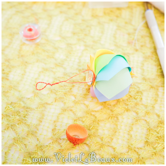 How To Make A Paper Hot Air Balloon Charm | Violet LeBeaux