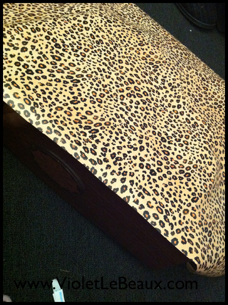 Leopard Print Drawer Liners Tutorial