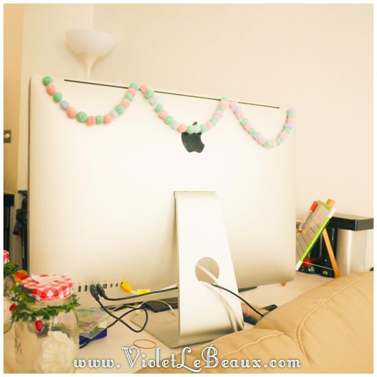 diy felt pompom string547 How To Make Your Own Decorative Pom Pom String