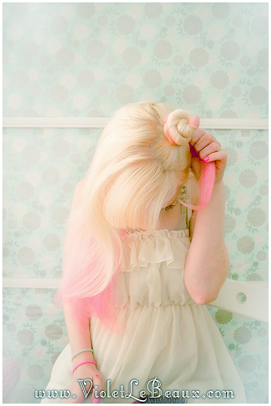 04 mini buns hairstyle tutorial violet lebeaux Mini Bun Hair Style Tutorial