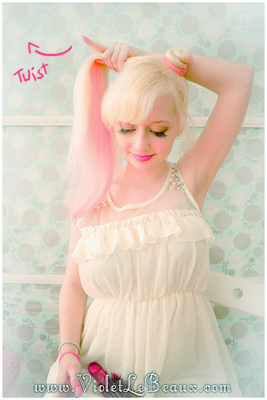07 mini buns hairstyle tutorial violet lebeaux Mini Bun Hair Style Tutorial