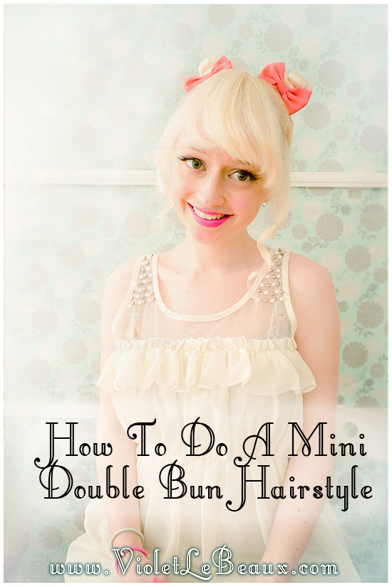 09 mini buns hairstyle tutorial violet lebeaux Mini Bun Hair Style Tutorial