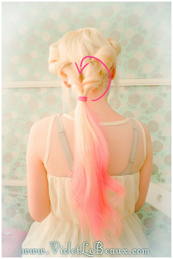 10 twisted ponytail hairstyle tutorial violet lebeaux How To Do A Classic Twisted Hairstyle – Photo Tutorial