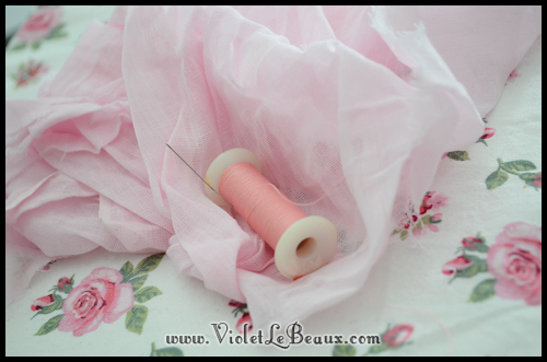 chiffon rose tutorial violetlebeaux 0886 How To Make Fabric Roses