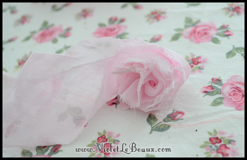 chiffon rose tutorial violetlebeaux 0894 How To Make Fabric Roses