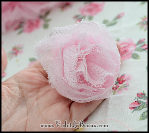 chiffon rose tutorial violetlebeaux 0895 How To Make Fabric Roses