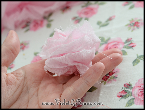 chiffon rose tutorial violetlebeaux 0896 How To Make Fabric Roses
