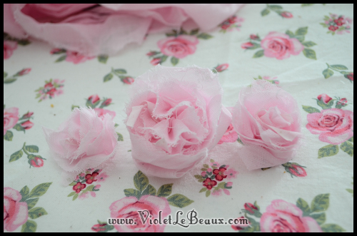 chiffon rose tutorial violetlebeaux 0898 How To Make Fabric Roses