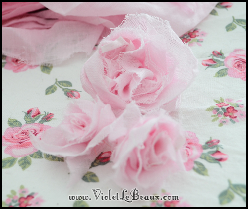 chiffon rose tutorial violetlebeaux 0899 How To Make Fabric Roses